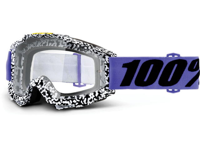 100% Accuri Anti Fog Clear goggles wit/zwart